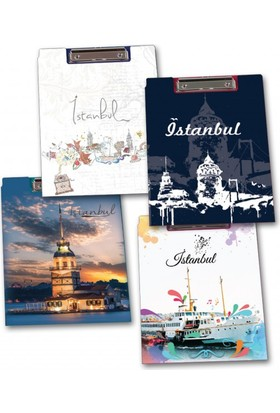 Abka Kapaklı Sekreterlik A4 İstanbul Desenli