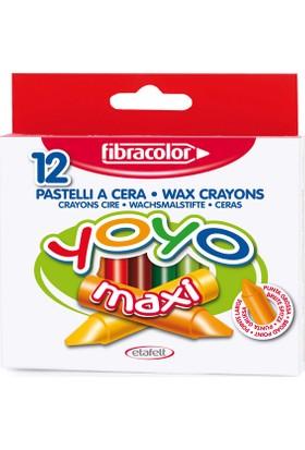 Fibracolor Yoyo Maxi Pastel Boya 12 Li