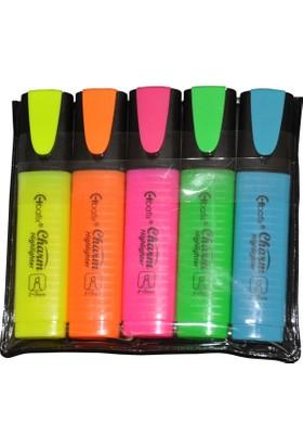 Bafix 5 Li Fosforlu Kalem Karışık Renkli
