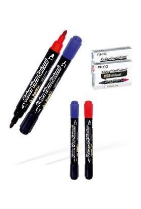 Aıhao Siyah-Mavi Çift Taraflı Permanent Kalem