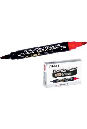Aıhao Siyah-Kırmızı Permanent Kalem