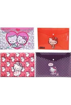 Umix Hello Kitty Desenli A4 Şeffaf Çıtçıtlı Dosya