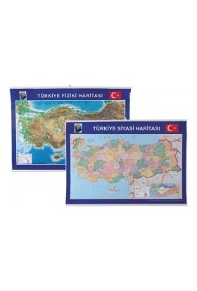 Türkiye Fiziki Siyasi Harita 70 X 100