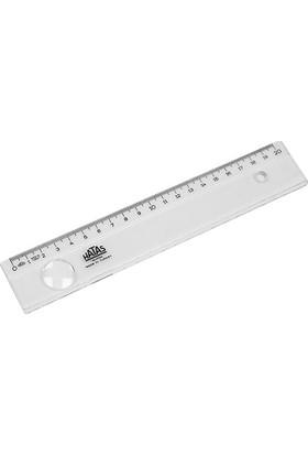 Hatas Cetvel Plastik Bürü Tipi Geniş 20 Cm 00150