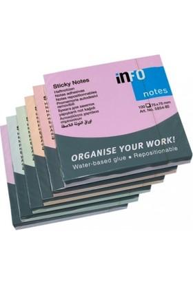 İnfo Notes 75 X 75 Mm - 100 Yaprak - Yapışkanlı Kağıt