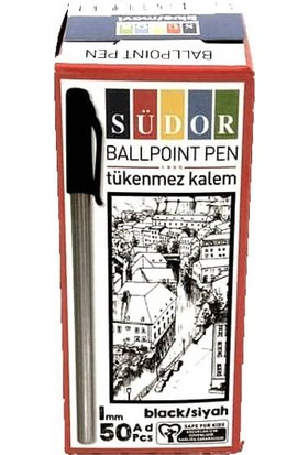 Südor Siyah Tükenmez Kalem 50 Li