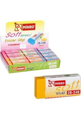 Mikro Renkli Soft Silgi / 2B-24R