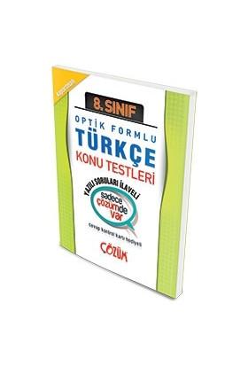 Çözüm 8.Sınıf Optik Forumlu Türkçe Konu Testi