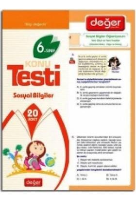 Değer Yayınları 6. Sınıf Sosyal Bilgiler Yaprak Test (20 Adet)