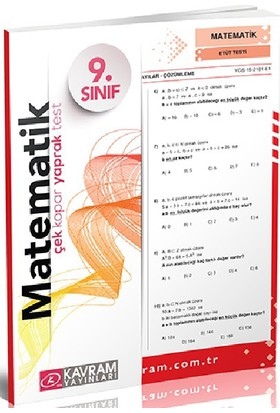 Kavram Yayınları 9. Sınıf Matematik Yaprak Test