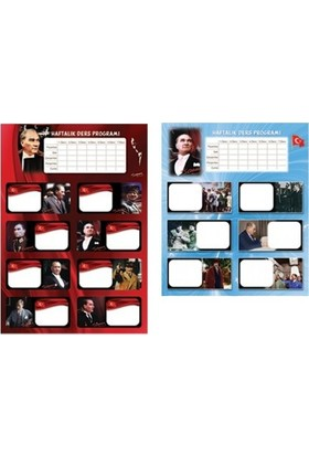 Keskin Color Atatürk Ders Programlı 3 Lü Etiket