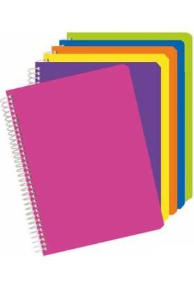 Penna 120 Yaprak Plastik Kapak Çizgili Telli A4 Defter