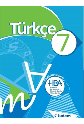 Tudem Yayınları 7. Sınıf Türkçe Kazanım Odaklı Konu Anlatım