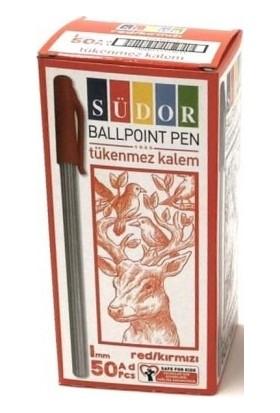 Südor Kırmızı Tükenmez Kalem 50 Li