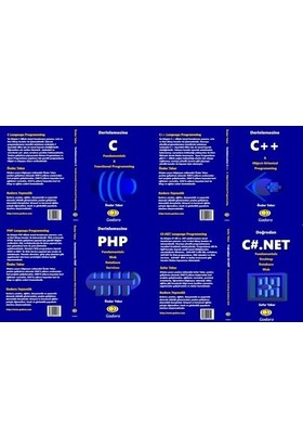Set 1 C, 1 C++, 1 PHP, 1 C#.Net Kitabı Birlikte - Önder Teker
