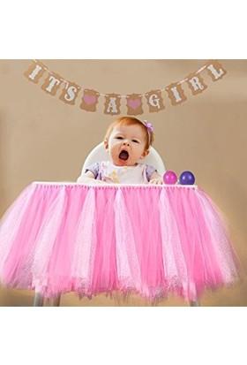 Gelinsacaksesuar Tütü Mama Masa Sandelye Etek Bebek Doğum Günü Partisi Malzemeleri