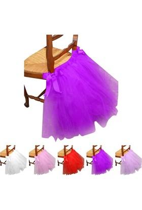Gelinsacaksesuar Mor Düğün Doğum Günü Partisi Sandalye Etek Sandalye Etek Ev Dekorasyon