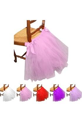 Gelinsacaksesuar Pembe Düğün Doğum Günü Partisi Sandalye Etek Sandalye Etek Ev Dekorasyon