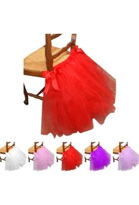 Gelinsacaksesuar Kırmızı Düğün Doğum Günü Partisi Sandalye Etek Sandalye Etek Ev Dekorasyon