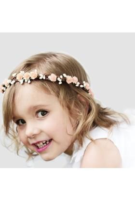 Gelinsacaksesuar Bebek,Kız Çocuk Saç Aksesuar,Çocuk Çiçekli Taç,Prenses Tacı Bileklik