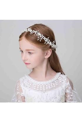 Gelinsacaksesuar Kız Çocuk Saç Aksesuar,Çocuk Çiçekli Taç,Prenses Tacı