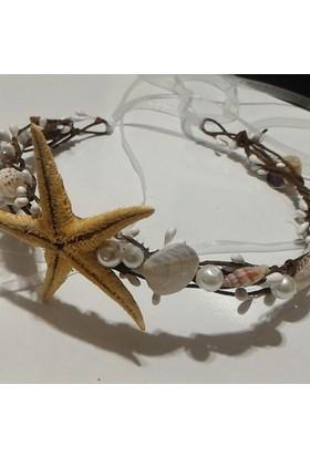 Gelinsacaksesuar Deniz Yıldızı Gelin Tacı Denizyıldızlı Tacı Gelin Tacı