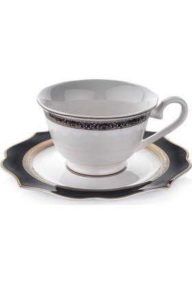Schafer 12 Parça Dantella Kahve Fincan Takımı - SIY01