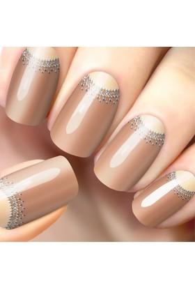 Limonian Glossy Blossom Nail Art- Tırnak Süsleme Stickerı - Skin Beige Glamorous