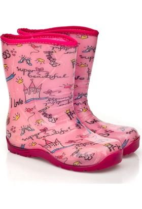Pali Çocuk Yağmur Çizmesi Prenses