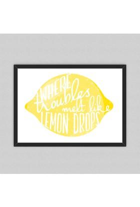 Kozanat Lemon Çerçeveli Poster 33 x 45 cm