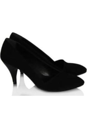 37numara Stiletto Siyah Süet Çapraz Model