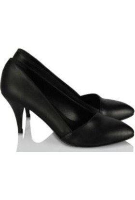37numara Stiletto Ayakkabı Siyah Çapraz