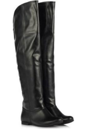 37numara Siyah Renk Dizüstü Binici Çizme