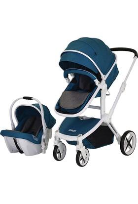 Prego Quattro Travel Sistem Bebek Arabası - Mavi