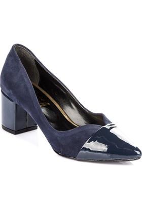Pembe Potin Lacivert Nubuk Ayakkabı