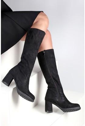 Pembe Potin Siyah Nubuk Çizme