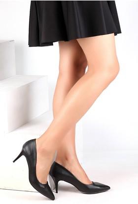 Pembe Potin Siyah Baskı Ayakkabı