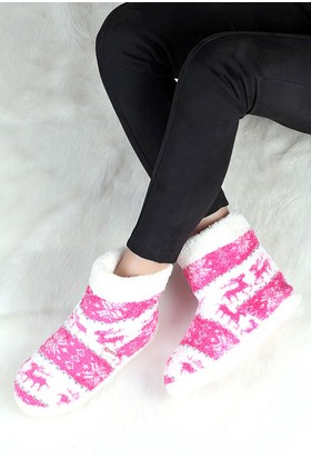 Pembe Potin Fuşya Ev Ayakkabısı