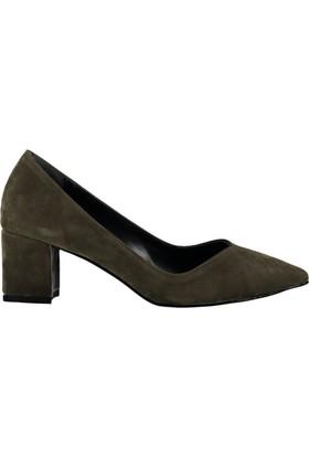 Pembe Potin Yeşil Nubuk Ayakkabı