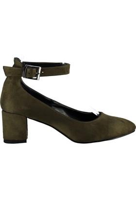Pembe Potin Haki Nubuk Ayakkabı