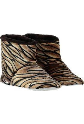 Pembe Potin Kahverengi Ev Ayakkabısı