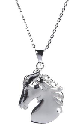 Affix Silver Gümüş At Başı Kolye