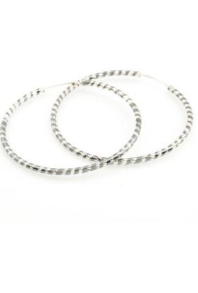 Affix Silver Gümüş İki Renkli Halka Küpe