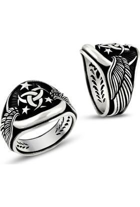 Affix Silver Gümüş Kanat Motifli Teşkilat-I Mahsusa Yüzüğü