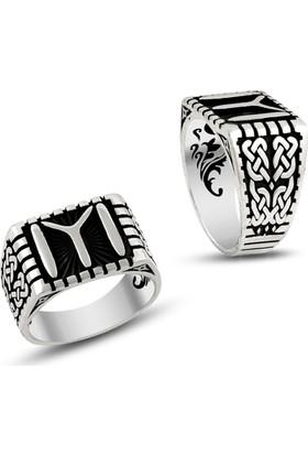 Affix Silver Gümüş Türk Motifli Kayı Boyu Yüzüğü