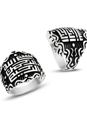 Affix Silver Gümüş Küfi Hat Sanatı İle Besmele Yazılı Yüzük