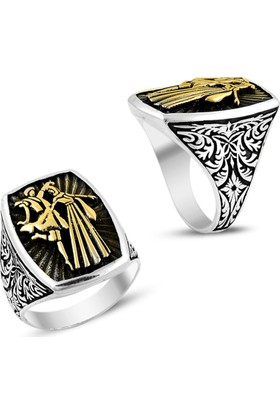Affix Silver Gümüş Çift Renk Kafkas Dansları Yüzüğü