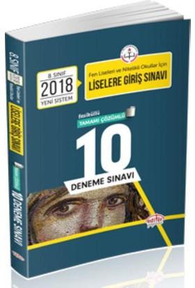 Editör Lgs Çözümlü 10 Deneme Sınavı