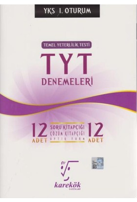 Karekök Yks-Tyt 12'Li Deneme 1. Oturum
