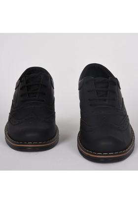 Volter Bağcıklı Klasik Günlük Siyah Çocuk Ayakkabı